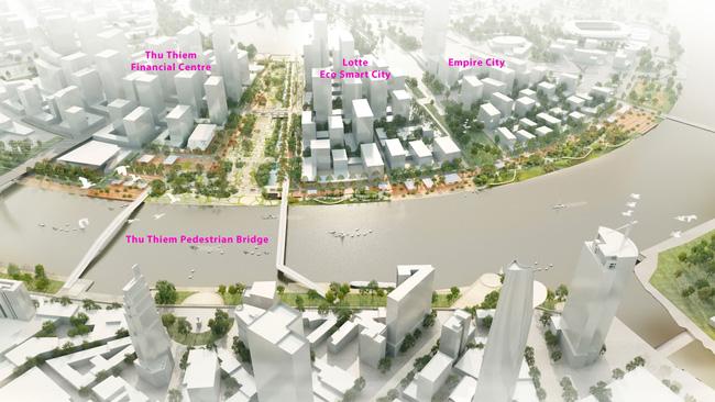 Lotte chính thức triển khai siêu dự án 20.000 tỷ với Eco Smart City tại Thủ Thiêm